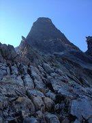 Rock Climbing Photo: early on mt. slesse's neb