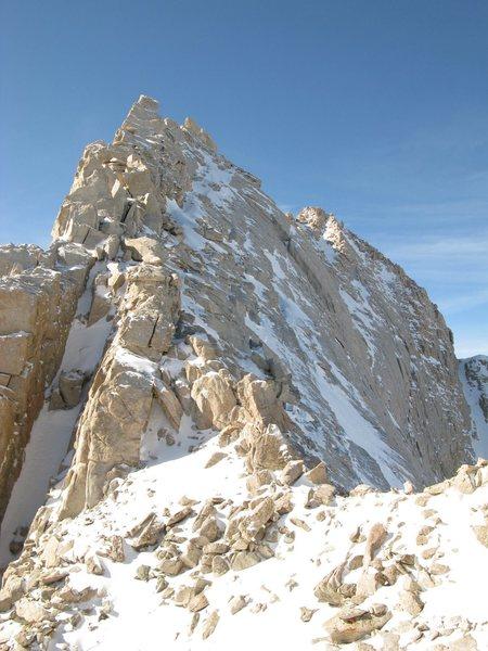 Start of ridge.