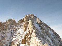 Rock Climbing Photo: Halfway point. The summit in the picture is the we...