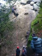 Rock Climbing Photo: Waterfall cliff area