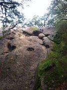 Rock Climbing Photo: The Lieback