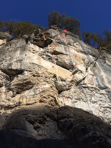 Rock Climbing Photo: Right side of River Bend. Reflections is on the le...