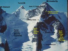 Rock Climbing Photo: The Nester Ridge, North (East) Ridge Mt Austerity ...