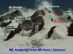 Rock Climbing Photo: Mt Austerity from Mt Horn, Showing Nester Ridge an...