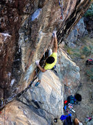Rock Climbing Photo: JT on Blonde Note.