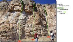 "Rock Climbing Photo: Beta for the routes left and right of ""Broken..."