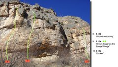 "Rock Climbing Photo: Beta (2 of 4) for routes Left and right of ""B..."