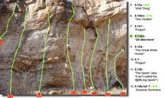 "Rock Climbing Photo: Beta (4 of 4) Routes from ""Wild Thing"" t..."