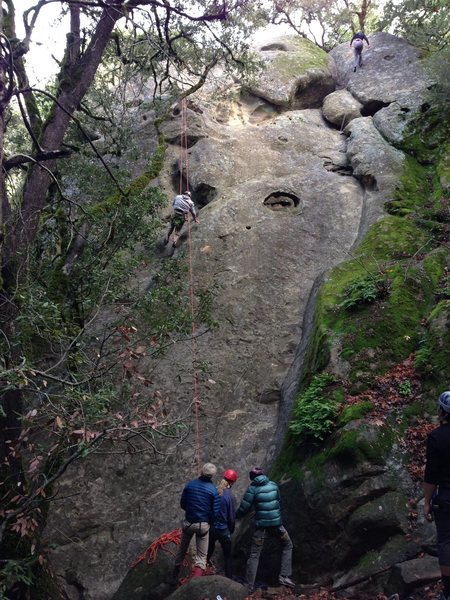 Rock Climbing Photo: Rightmost face of the Waterfall Cliff area -- From...