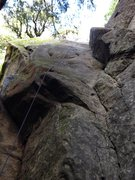 Rock Climbing Photo: Looking up Lieback Corner