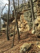 Rock Climbing Photo: Good place for top rope, using trees as anchors.