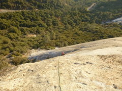 Rock Climbing Photo: Greg following up at Tollhouse