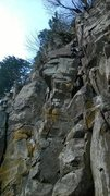 Rock Climbing Photo: Dropping bolts on Rainy Day Surprise. Pic (and bel...
