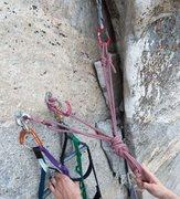 Rock Climbing Photo: Chris Mac's single-strand cordelette