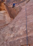 Rock Climbing Photo: cruising the beautiful first pitch of Living on th...