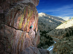 Rock Climbing Photo: JT getting into the business on Wild and Scenic, 1...