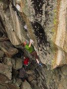 Rock Climbing Photo: SL on the send of Landing Strip.