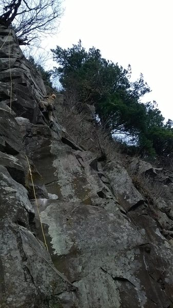 Chris Alexander climbing Indian Heaven.