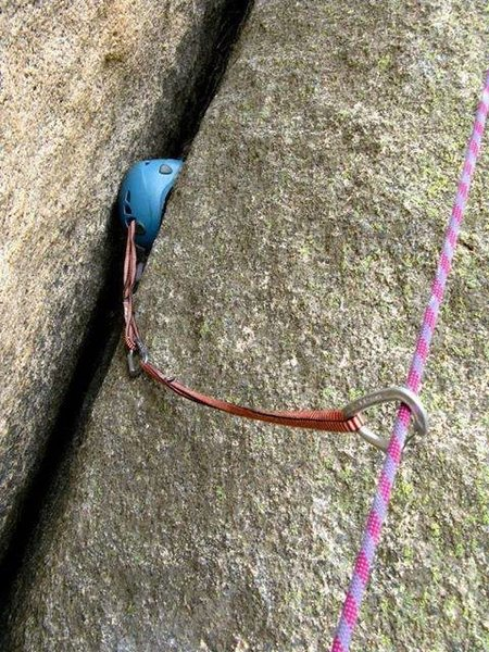 Rock Climbing Photo: How many KN is the helmet rated for? Take a whippe...