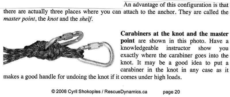 using the masterpoint knot w/biner as shelf