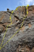 Rock Climbing Photo: Pitch three Autumn Gold with variation.