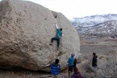 Rock Climbing Photo: Upside (V8).