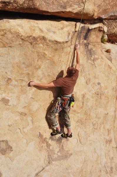 Rock Climbing Photo: Vitaliy on the crux