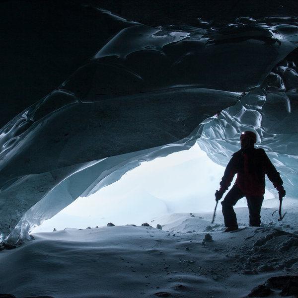 Rock Climbing Photo: ice cave exploration