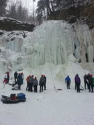 Rock Climbing Photo: The falls on a busy weekend. Being so close to the...