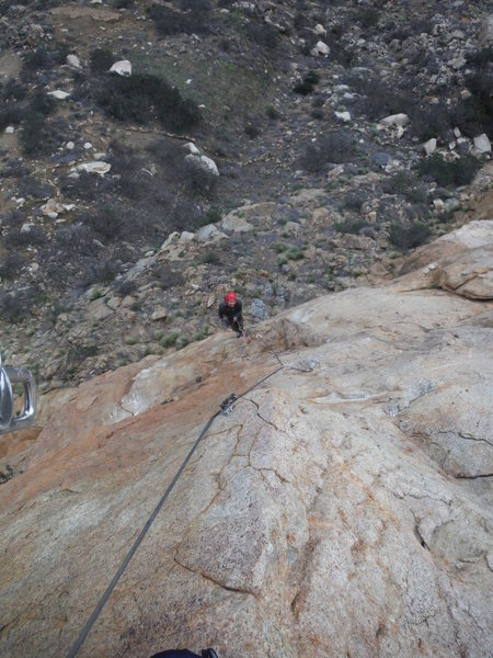 Rock Climbing Photo: The last pitch. Awesome exposure!