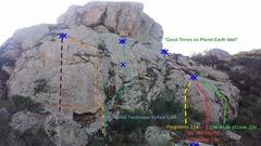 Rock Climbing Photo: Good Times on Planet Earth wall