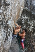 Rock Climbing Photo: Luckily managed not to blow the onsight FA of a pr...