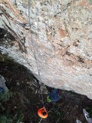 Rock Climbing Photo: From the crux
