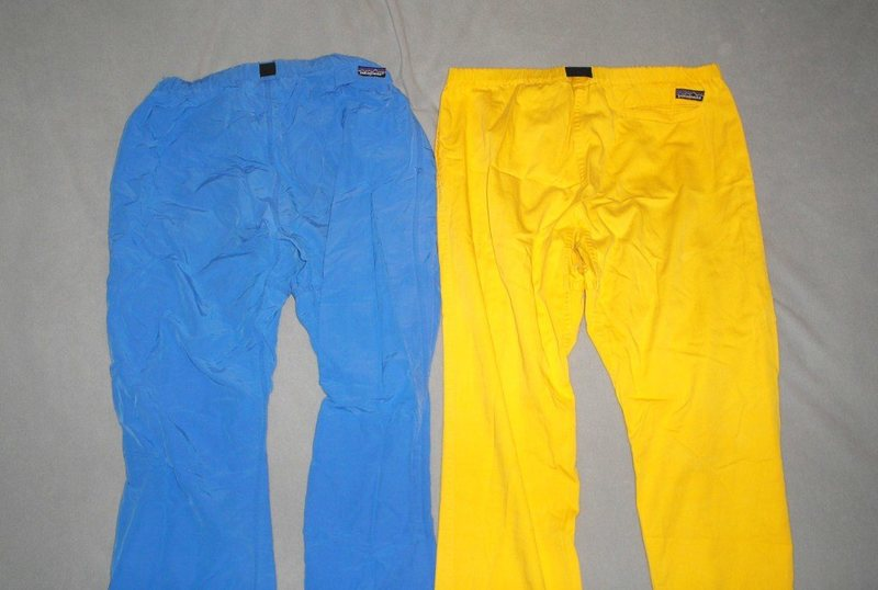 Lightweight Patagonia pants,,bright color era begins into the 80's.