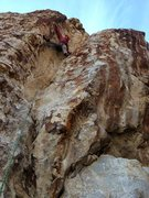 Rock Climbing Photo: Sam at the crux.