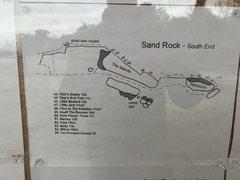 Rock Climbing Photo: Sun Wall south end topo