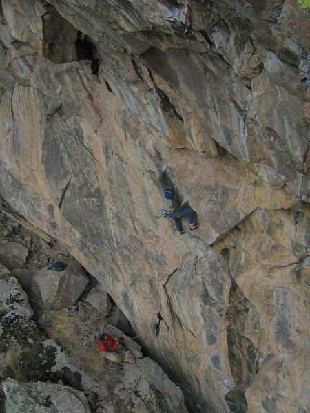 Rock Climbing Photo: Low crux.