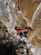 Rock Climbing Photo: CT at the start of the crux.