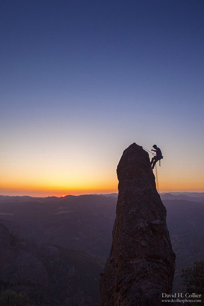 Rock Climbing Photo: Me rapping off of of Photographers Delight.  Photo...