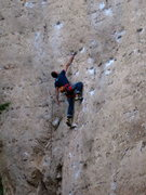 Rock Climbing Photo: Boulderite Curt MacNeill shaking out right before ...
