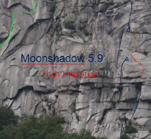 Rock Climbing Photo: Instead of doing the long left traverse on P1...cl...