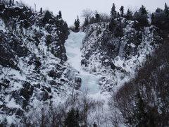 """Rock Climbing Photo: Parasol Gully, 1/9/14, in """"ice"""" conditio..."""