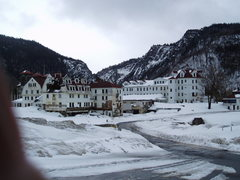 Rock Climbing Photo: The old, and now decrepit, Balsams Hotel - once on...