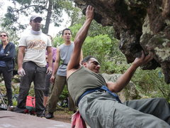 Rock Climbing Photo: Local climbing pioneer Miguel Arango, still going ...