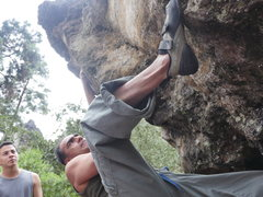 Rock Climbing Photo: Miguel Arango, Cerro Quemado climbing legend.