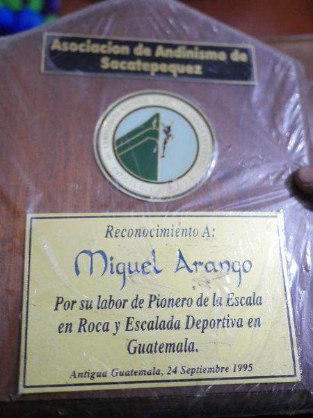 Historic photo of Cerro Quemado pioneer Miguel Arango.