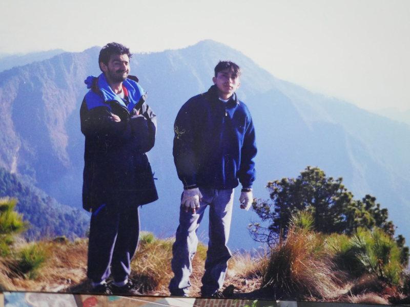 Local climbing pioneers, Miguel Arango and son, Victor.