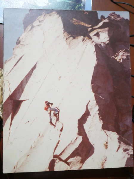 Rock Climbing Photo: Local climbing pioneer, Miguel Arango.