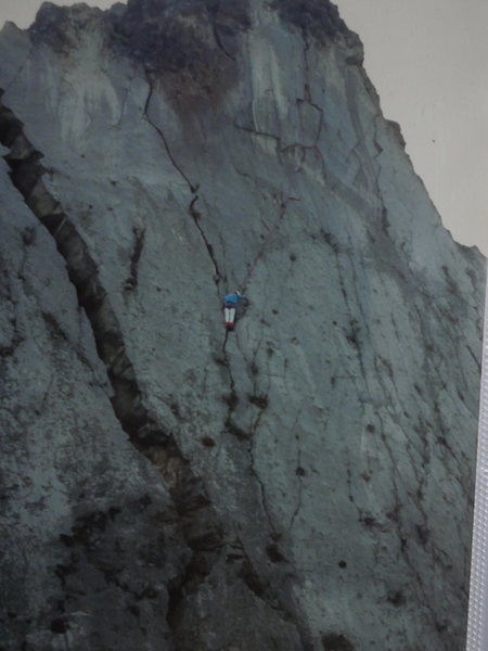 Rock Climbing Photo: Cerro Quemado back in the day. Miguel Arango.