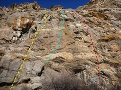 Rock Climbing Photo: Tortoise Scute - yellow.  First Armadillo - blue. ...